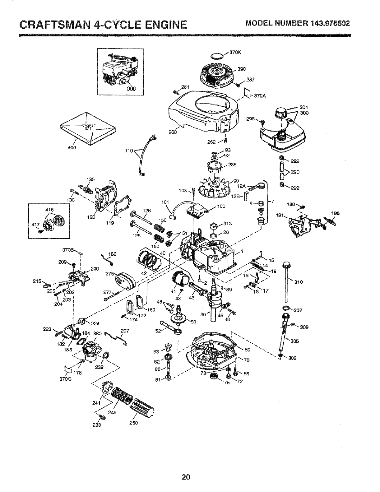 Page 20 of Sears Lawn Mower 975502 User Guide