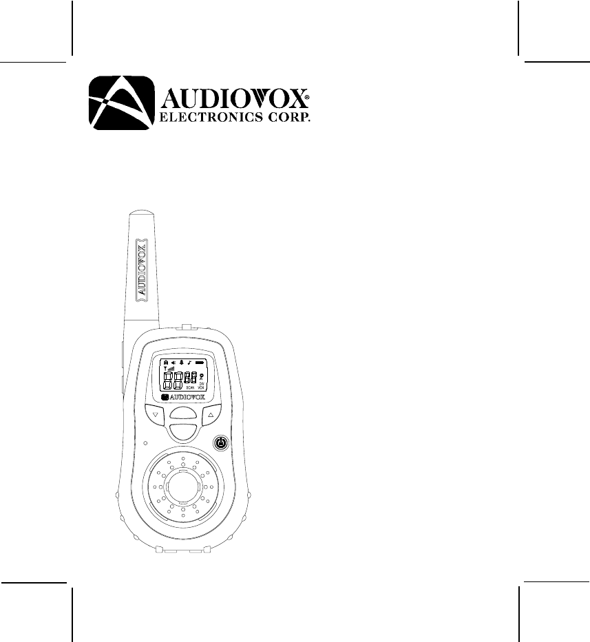 Audiovox Two-Way Radio GMRS9010-2CH User Guide