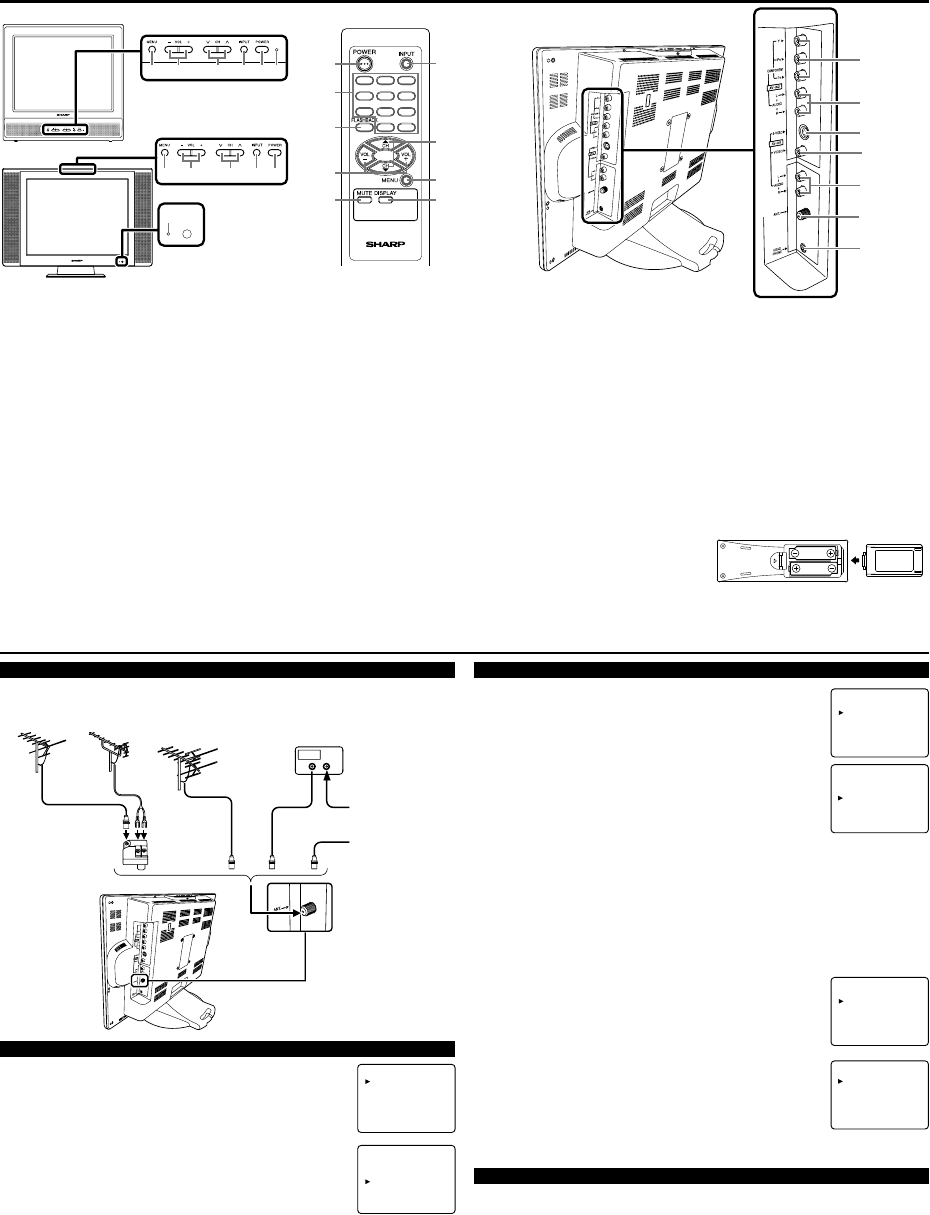 Page 2 of Sharp Flat Panel Television LC 20AV1U User Guide