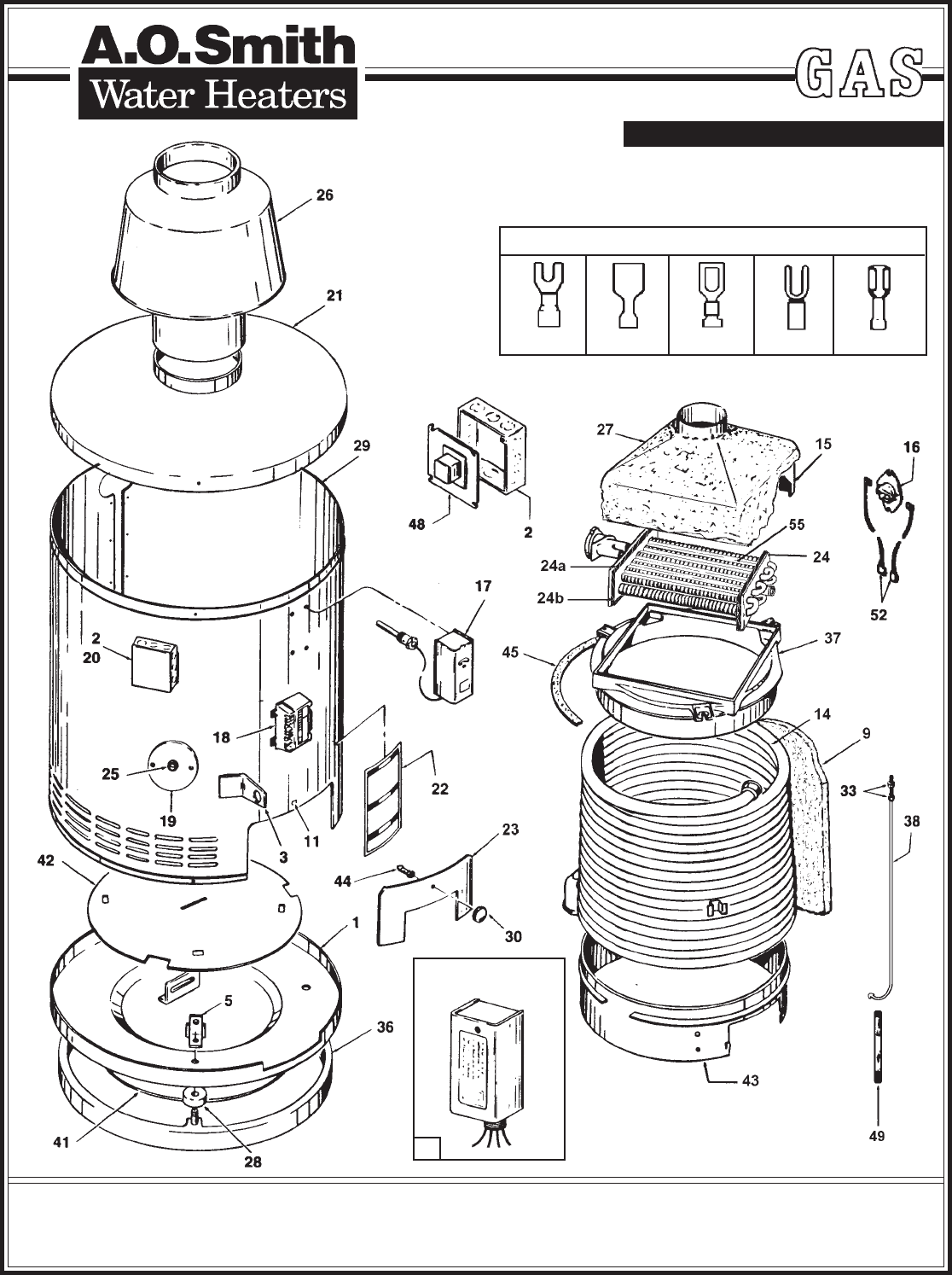 A.O. Smith Water Heater 105 Series User Guide