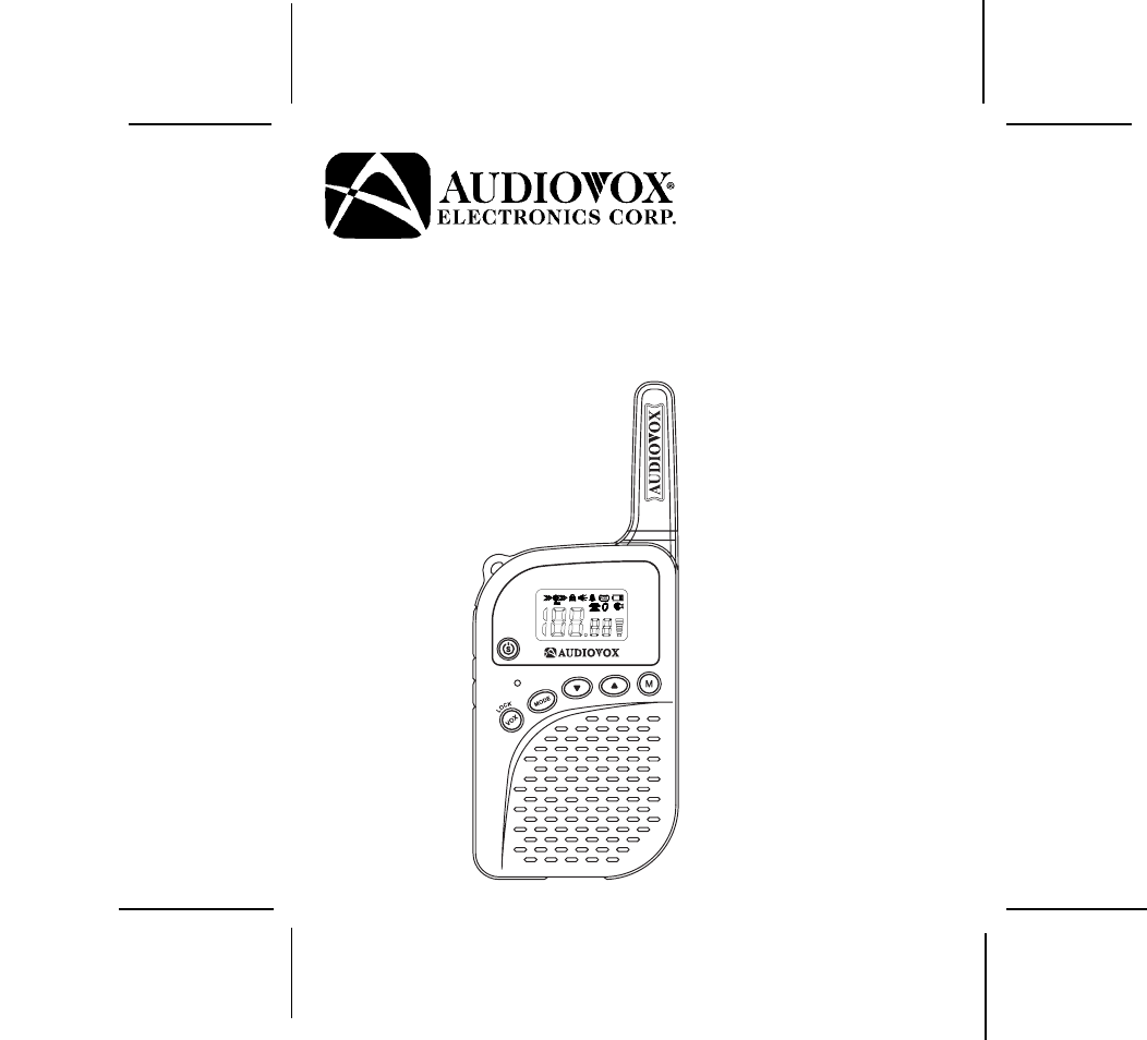 Audiovox Two-Way Radio GMRS762CH User Guide