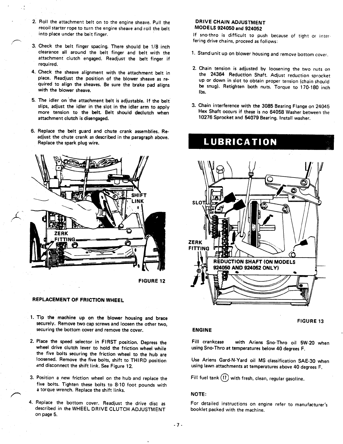 Page 7 of Ariens Snow Blower 924052 User Guide
