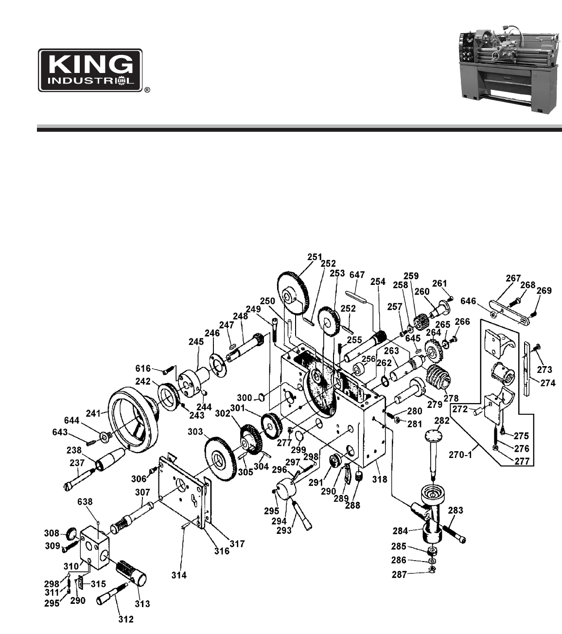 Page 4 of King Canada Lathe KC-1440ML-6 User Guide