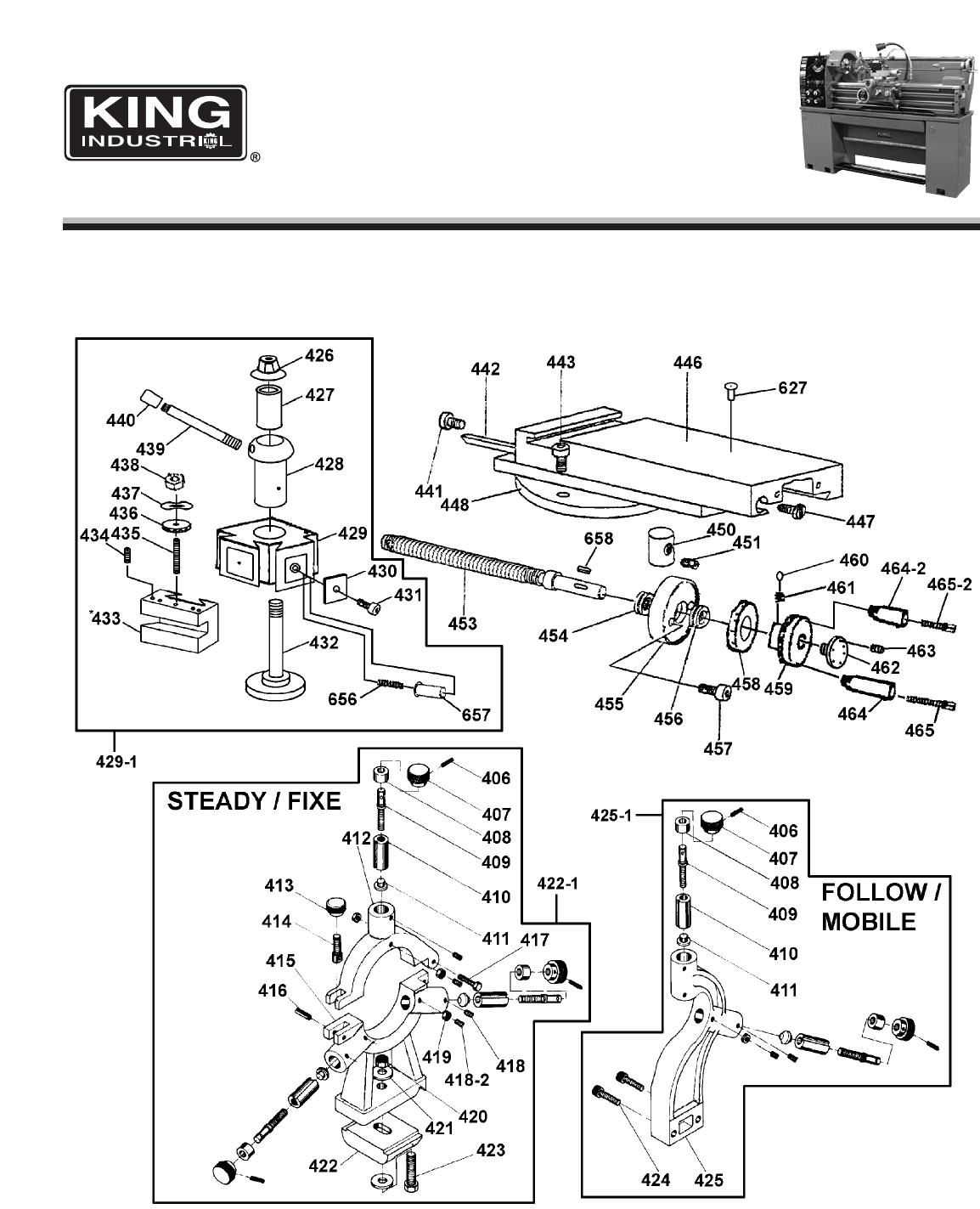 Page 7 of King Canada Lathe KC-1440ML-6 User Guide