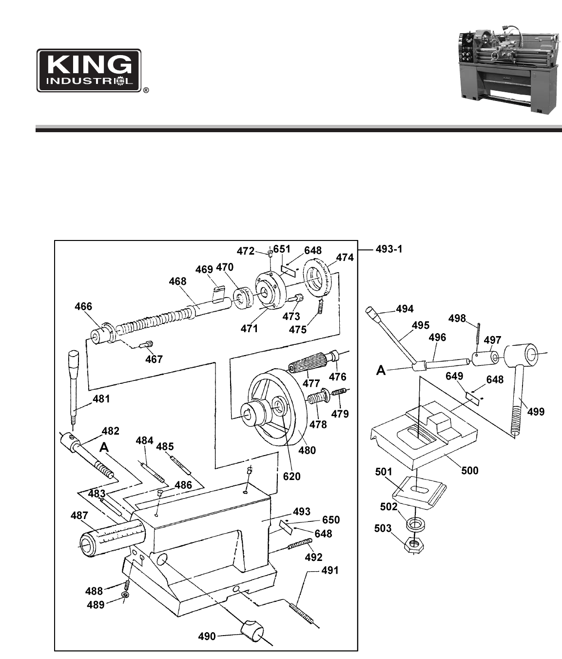 Page 8 of King Canada Lathe KC-1440ML-6 User Guide