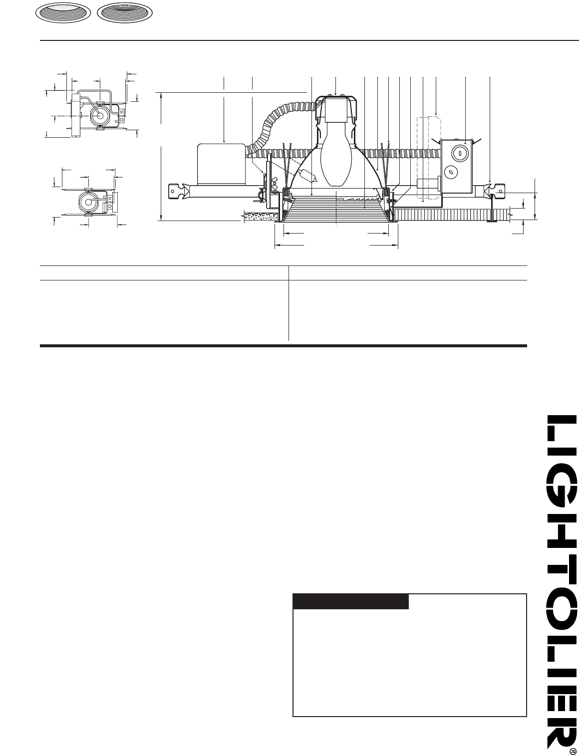 hight resolution of lightolier c7e17fl pl work light user manual