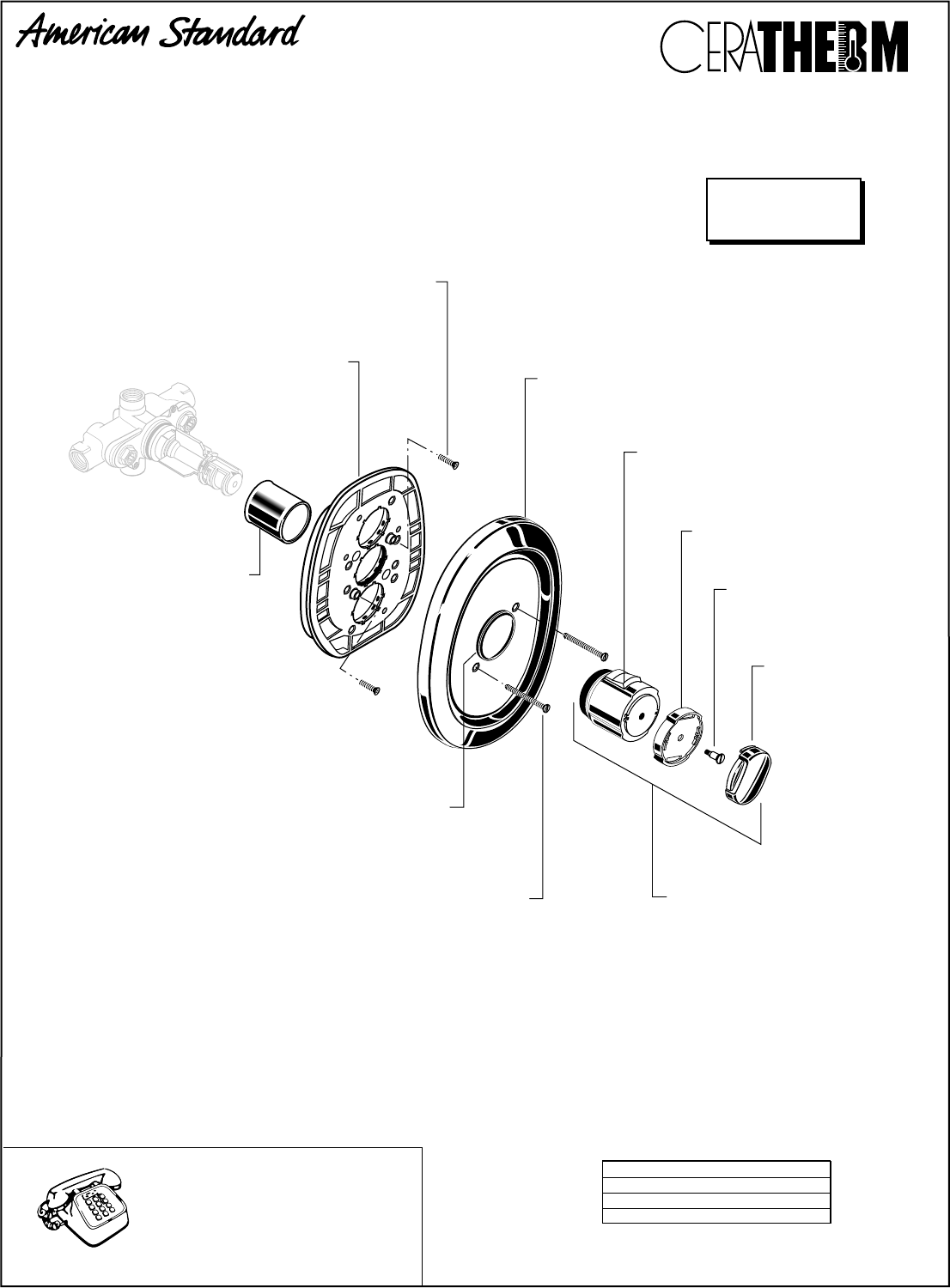 American Standard Thermostat T050110 User Guide