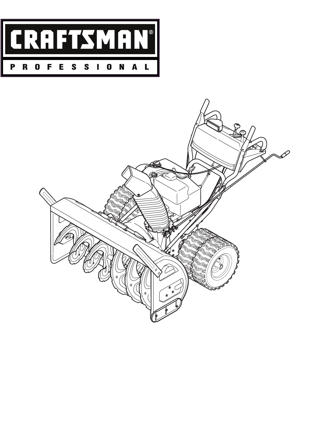 Craftsman Snow Blower Operating Instructions