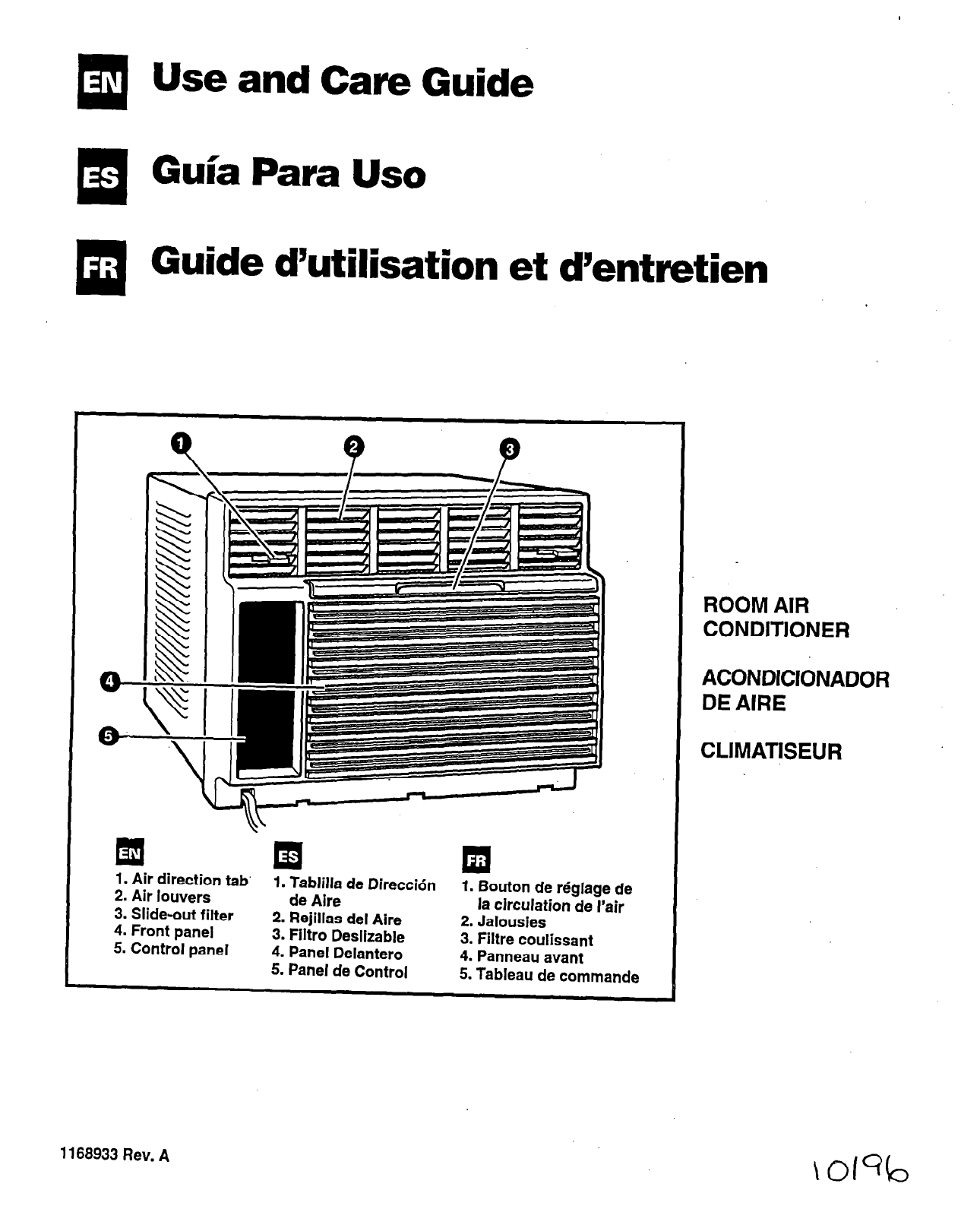 Whirlpool Air Conditioner ACM184XE1 User Guide