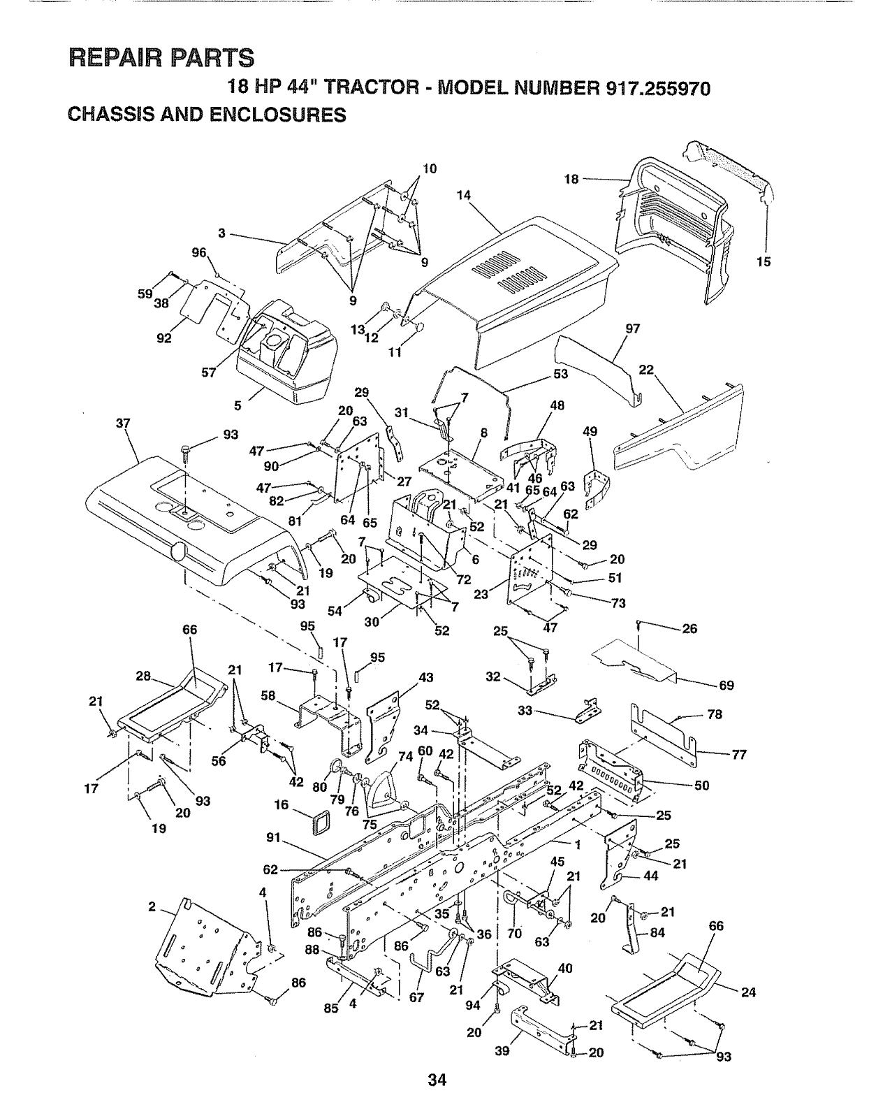 Page 34 of Sears Lawn Mower 917.25597 User Guide