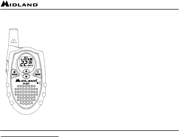 Midland Radio Two-Way Radio GXT-250 User Guide