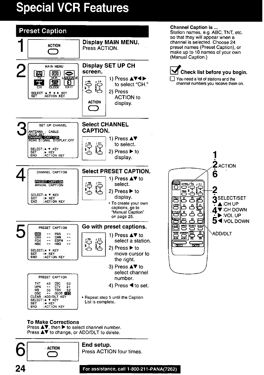 Page 24 of Panasonic DVD VCR Combo PVQ-2510 User Guide
