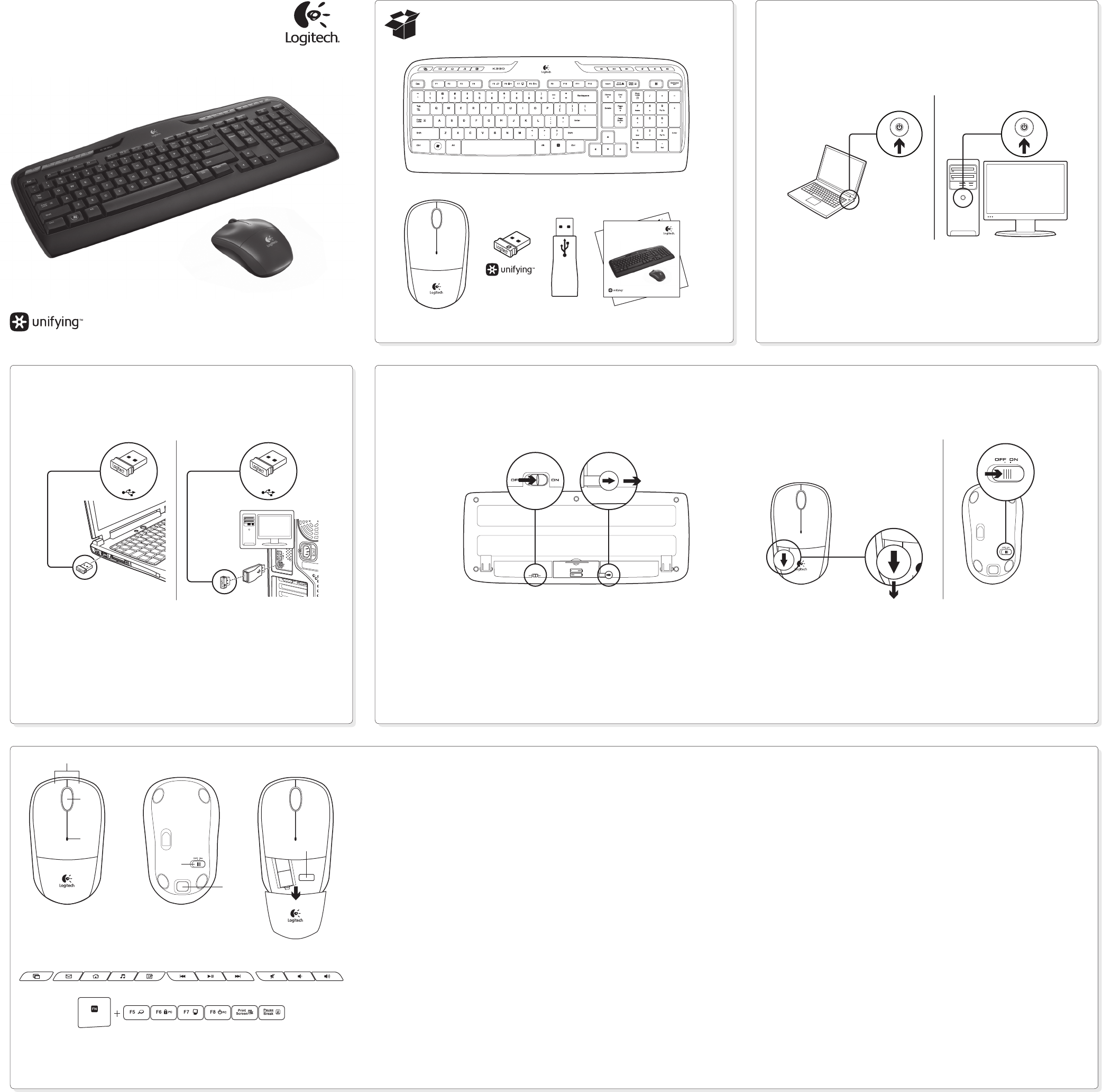 Logitech Computer Keyboard MK330 User Guide