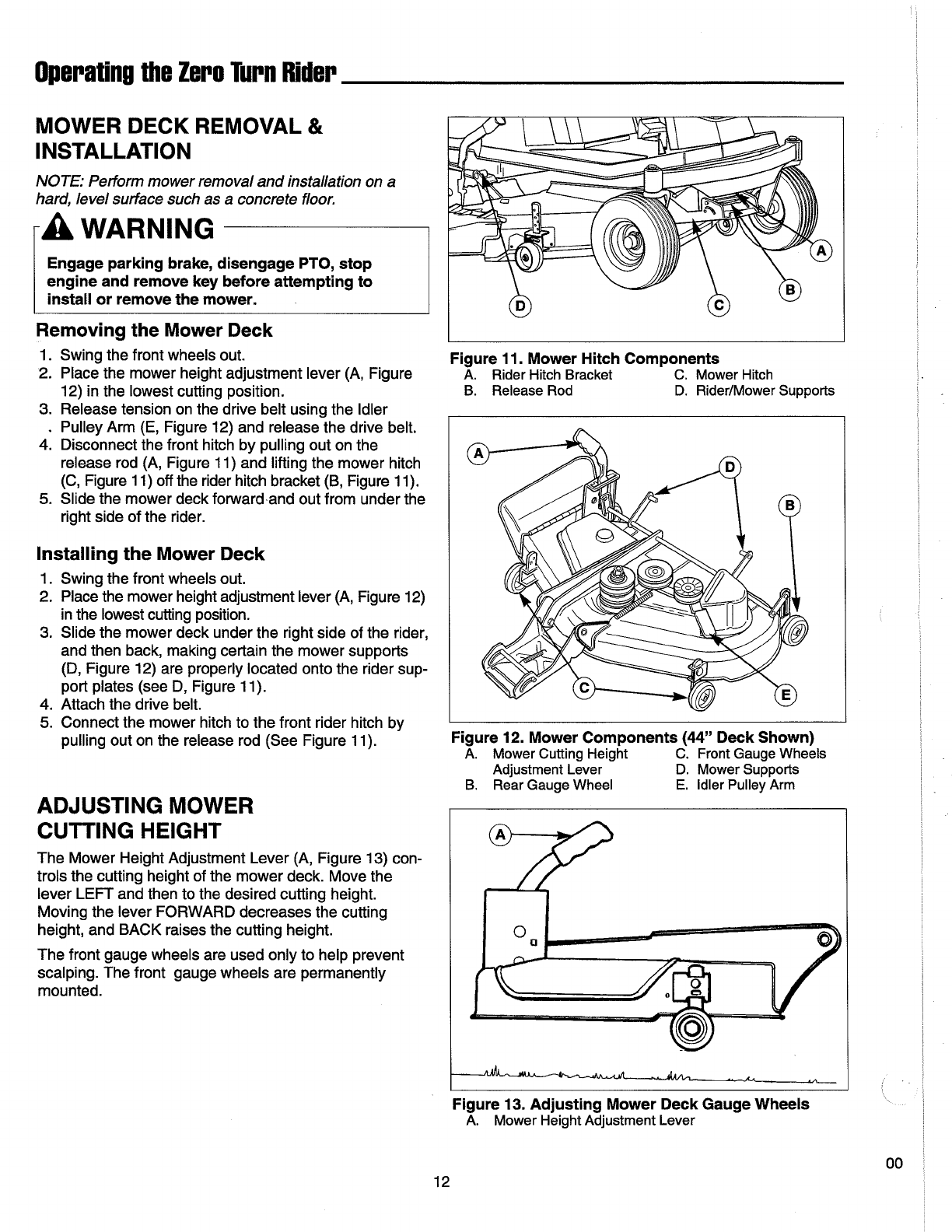 Page 14 of Simplicity Lawn Mower ZT Series User Guide
