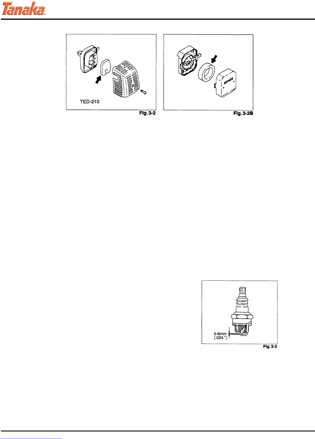 Page 10 of Tanaka Drill TED-262L User Guide