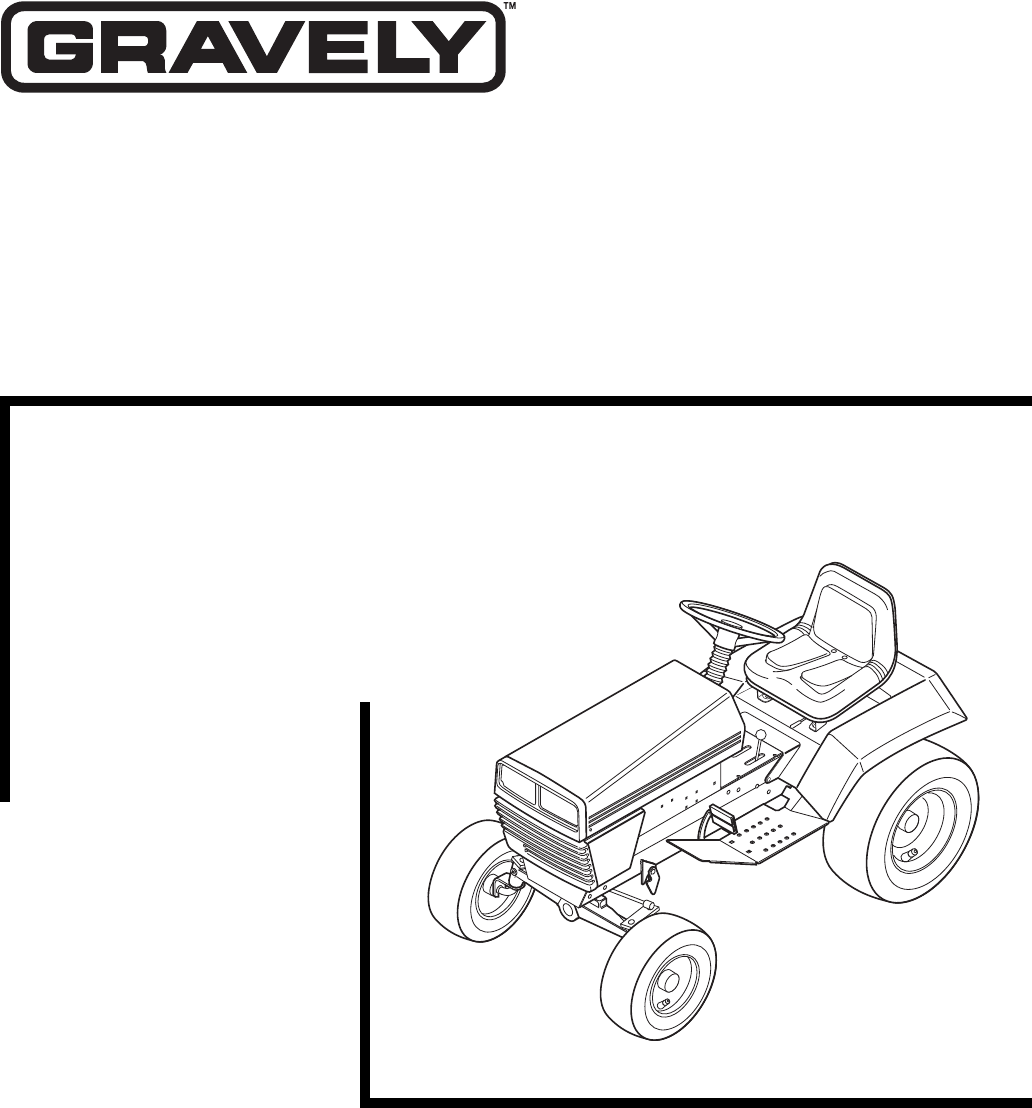 Gravely Recording Equipment 987072 User Guide