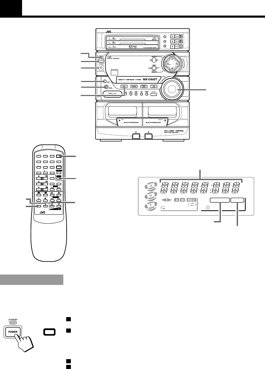 Page 9 of JVC Stereo System MX-D302T User Guide