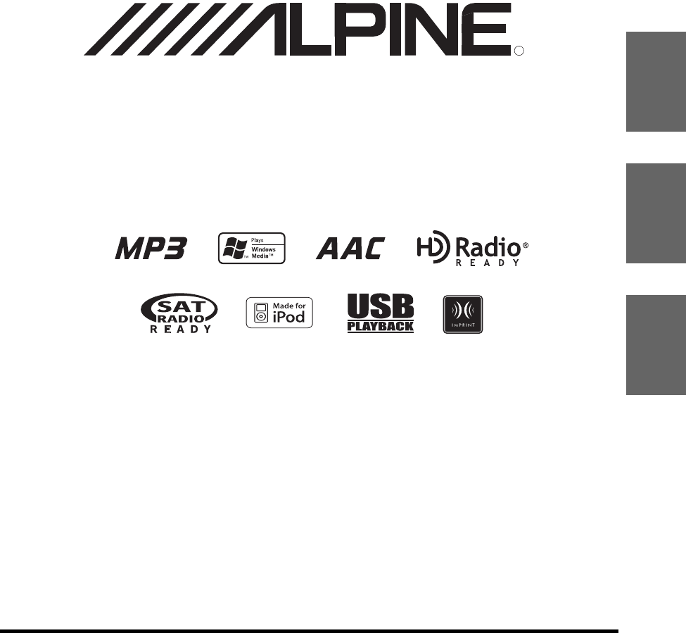 Alpine Car Stereo System IDA-X100 User Guide