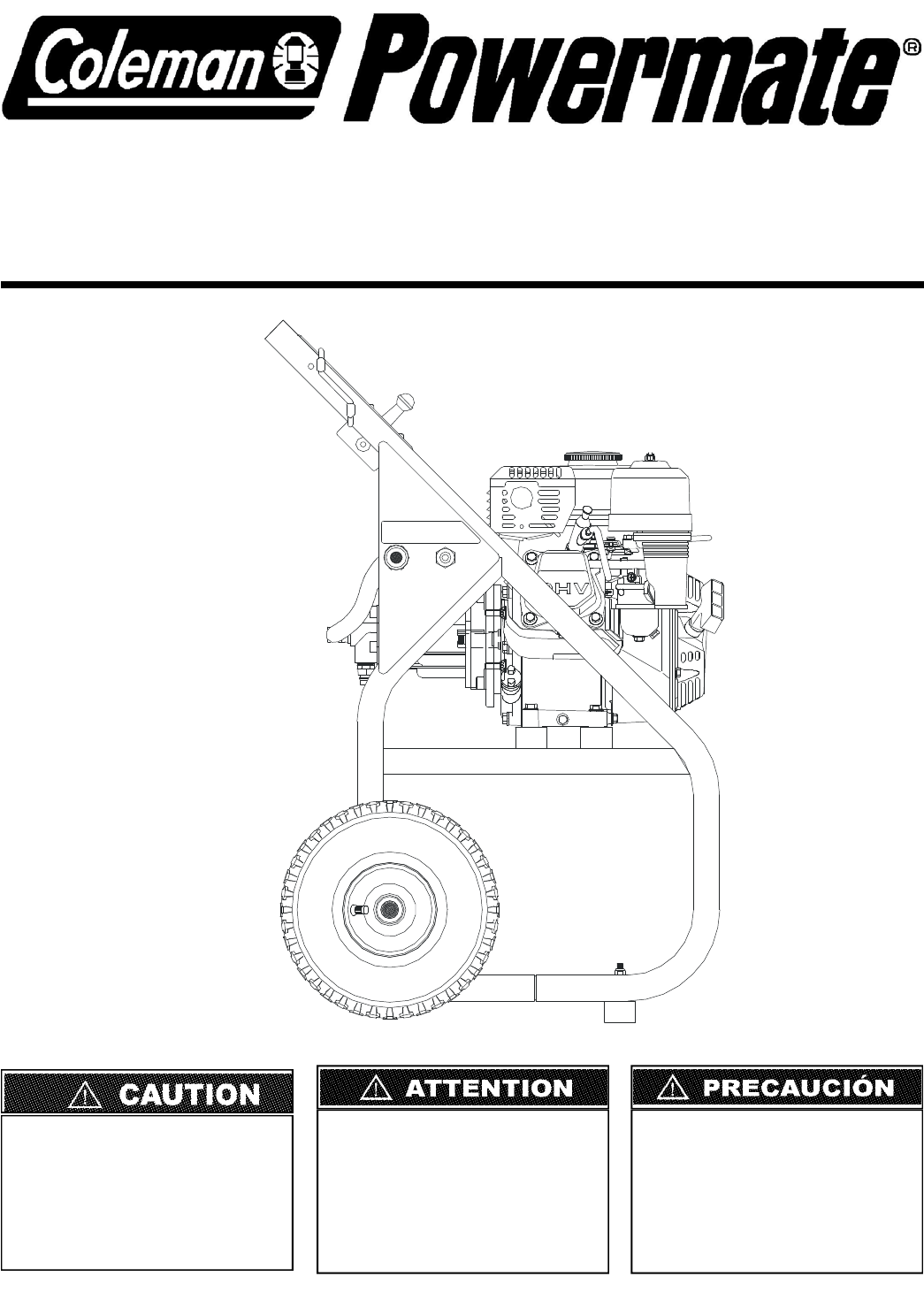 Coleman Pressure Washer PW0912500 User Guide
