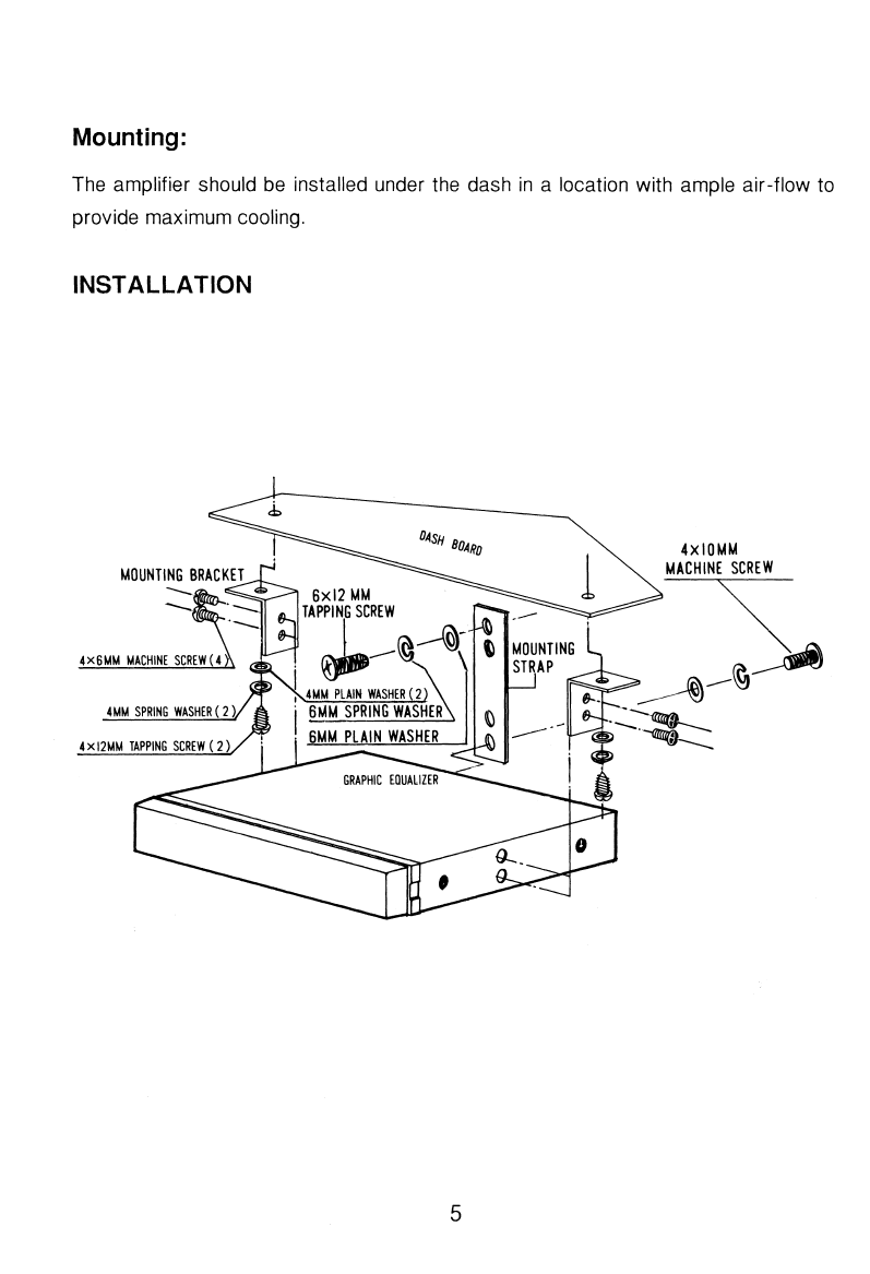 Page 5 of Pyramid Car Audio Stereo Equalizer 903G User