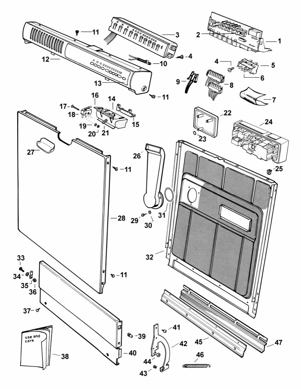 Page 12 of Fisher & Paykel Dishwasher 262M User Guide