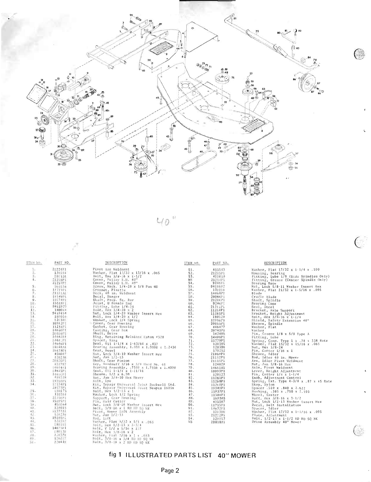 Page 2 of Gravely Lawn Mower 21296-40 User Guide