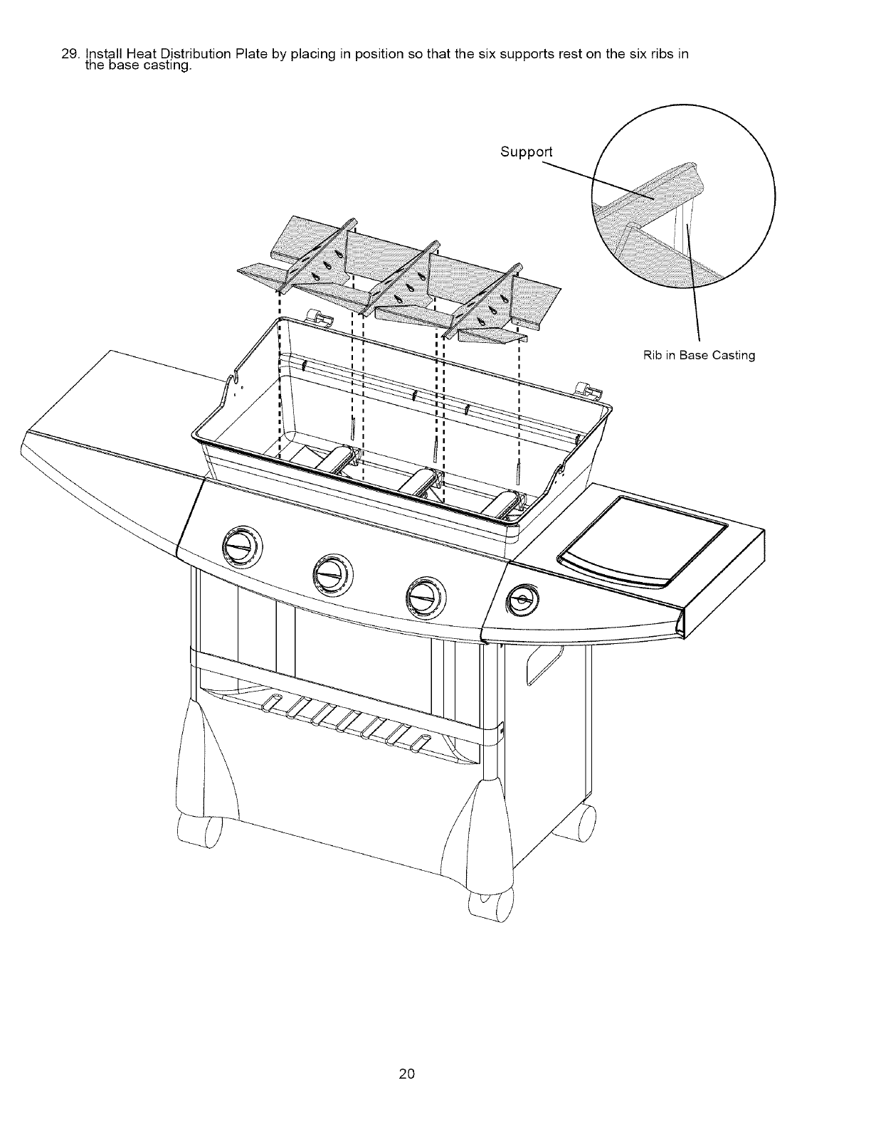Page 20 of Kenmore Gas Grill 16238 User Guide