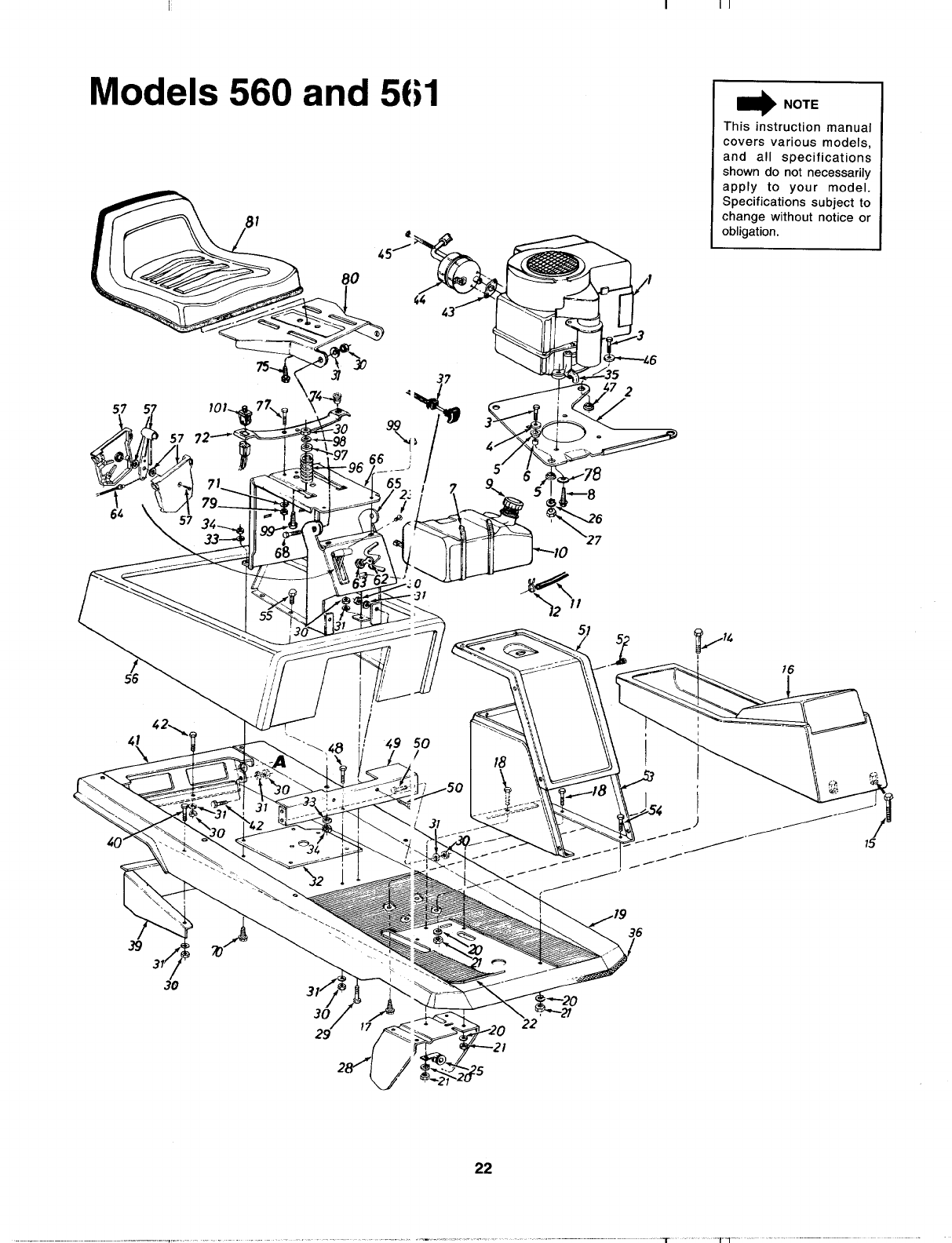 Page 22 of MTD Lawn Mower 133A560B00 User Guide