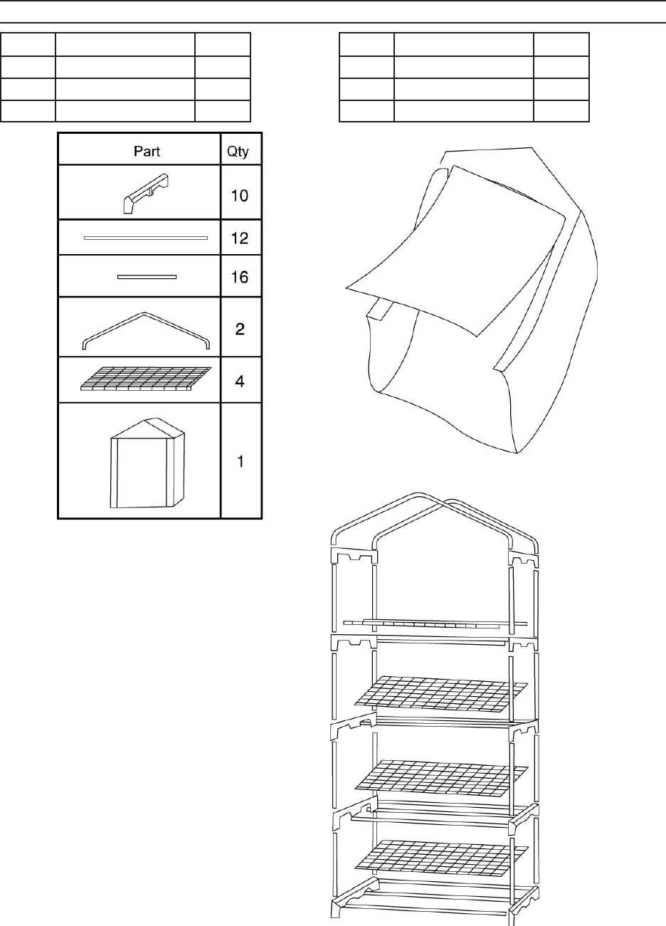 Page 4 of One Stop Gardens Greenhouse Kit 96909 User Guide