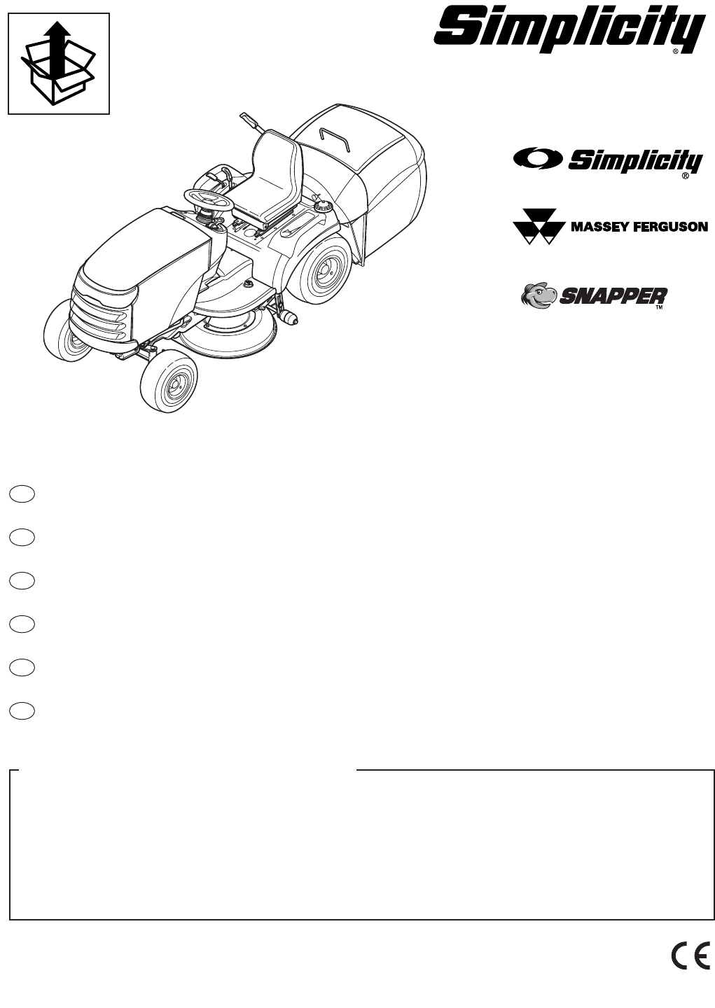 Simplicity Manufacturing Lawn Mower 2400 User Guide
