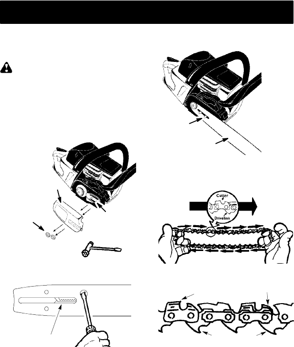 Page 6 of Poulan Chainsaw PP4218 AV User Guide