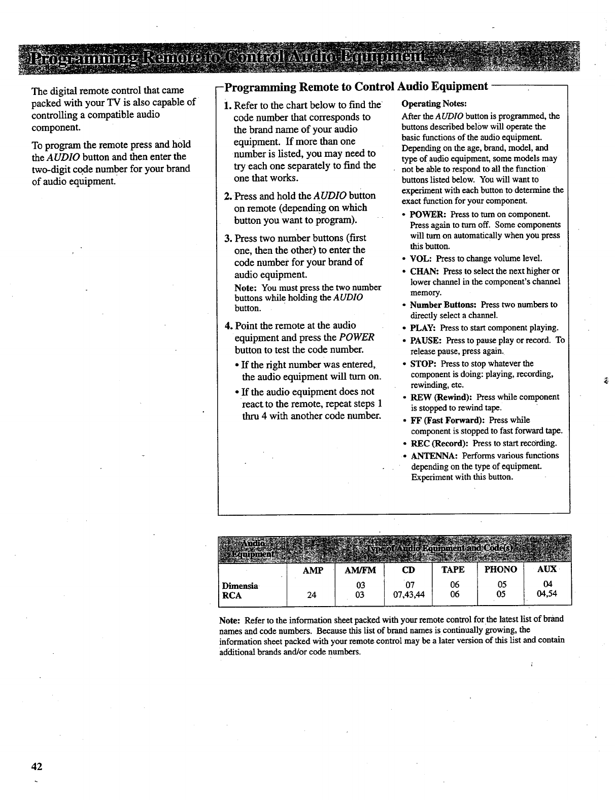 Page 44 of RCA CRT Television P52730 User Guide