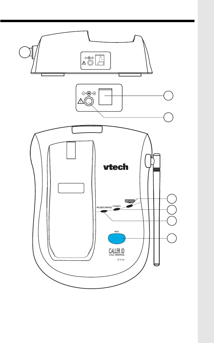 Page 5 of VTech Answering Machine VT 9122 User Guide