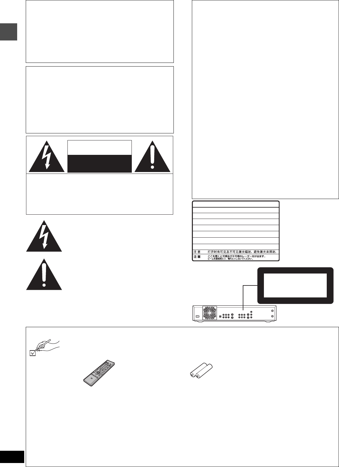 Page 2 Of Panasonic Dvd Recorder Dmr Hs2 User Guide