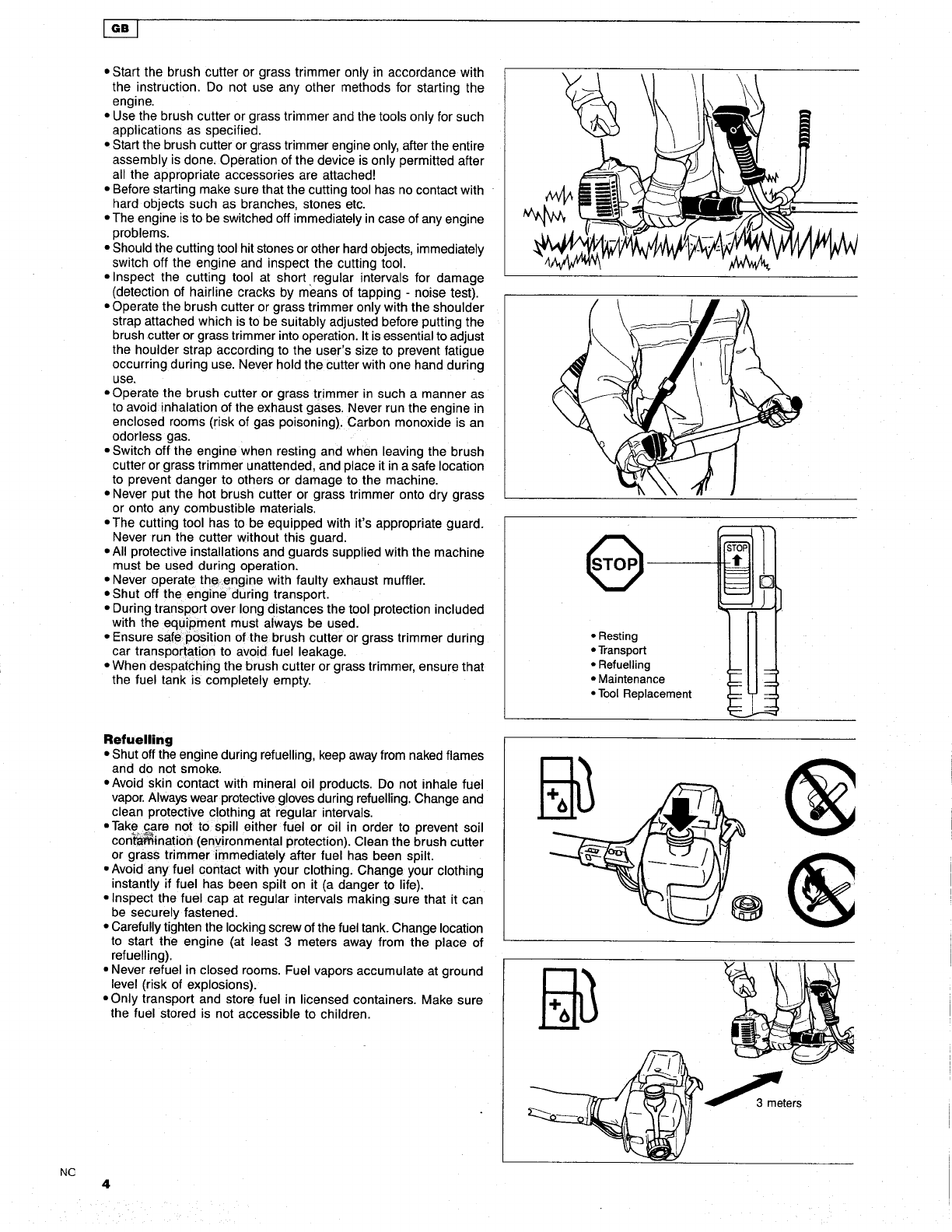 Page 4 of Makita Brush Cutter RBC251 User Guide