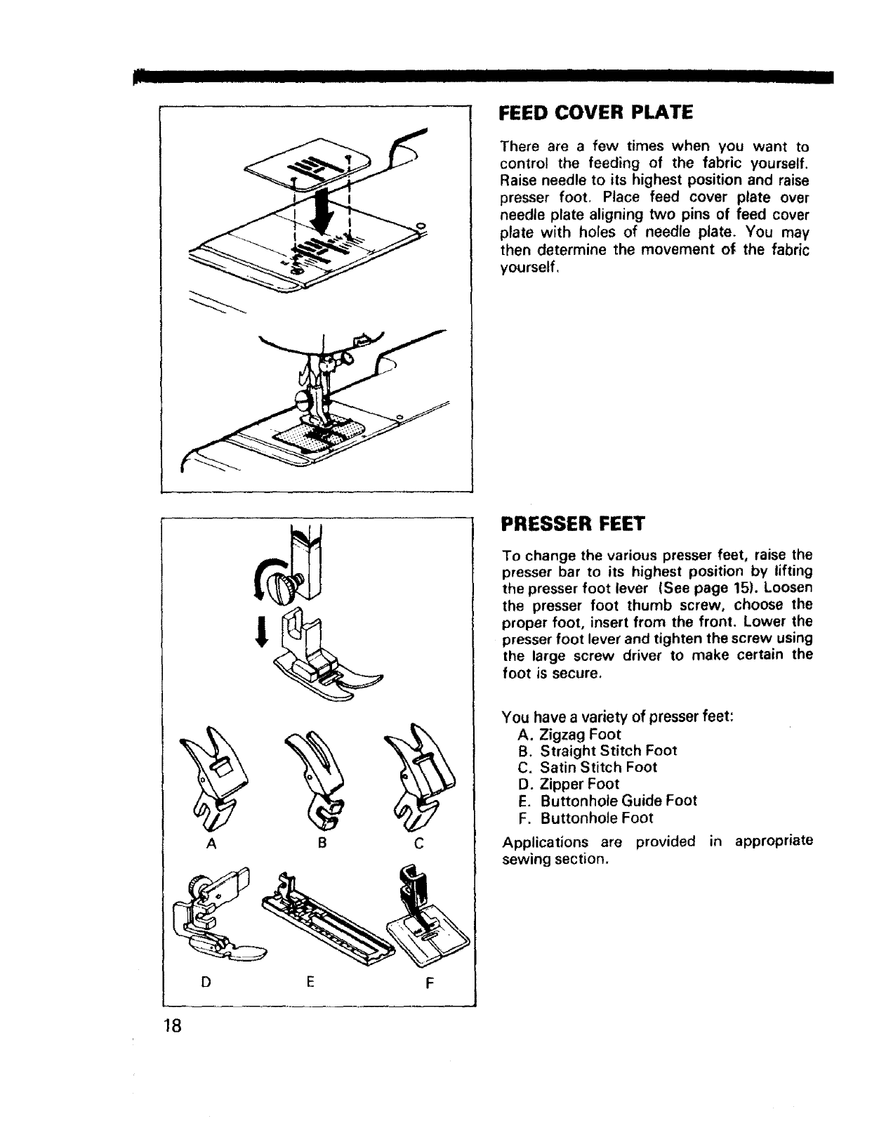 Page 19 of Sears Sewing Machine 1595 User Guide