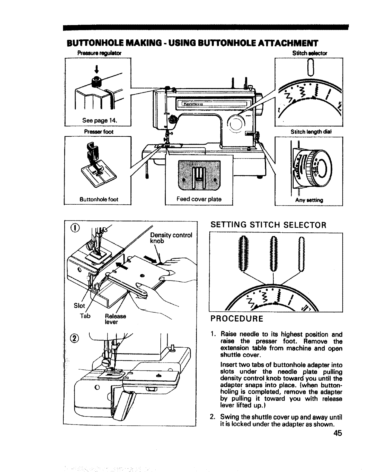 Page 46 of Sears Sewing Machine 1595 User Guide