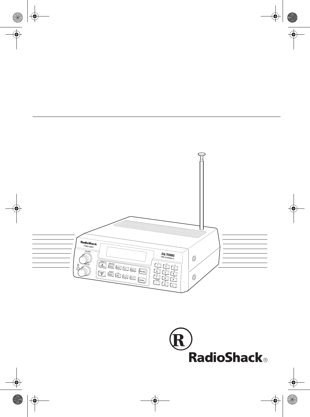 Radio Shack Car Stereo System PRO-2052 User Guide