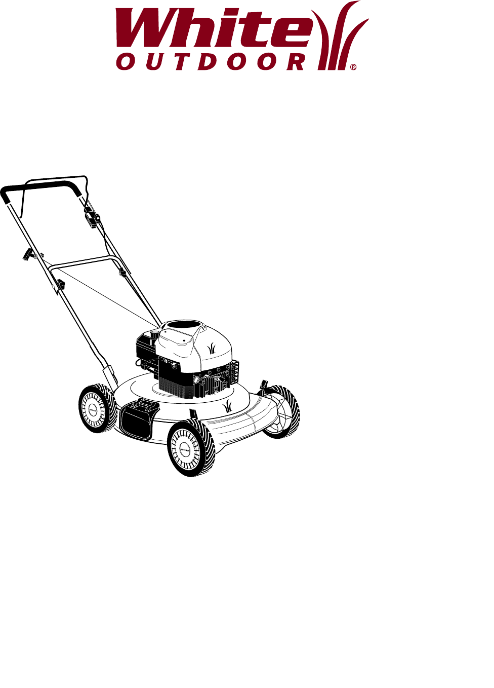 White Outdoor Lawn Mower Manual