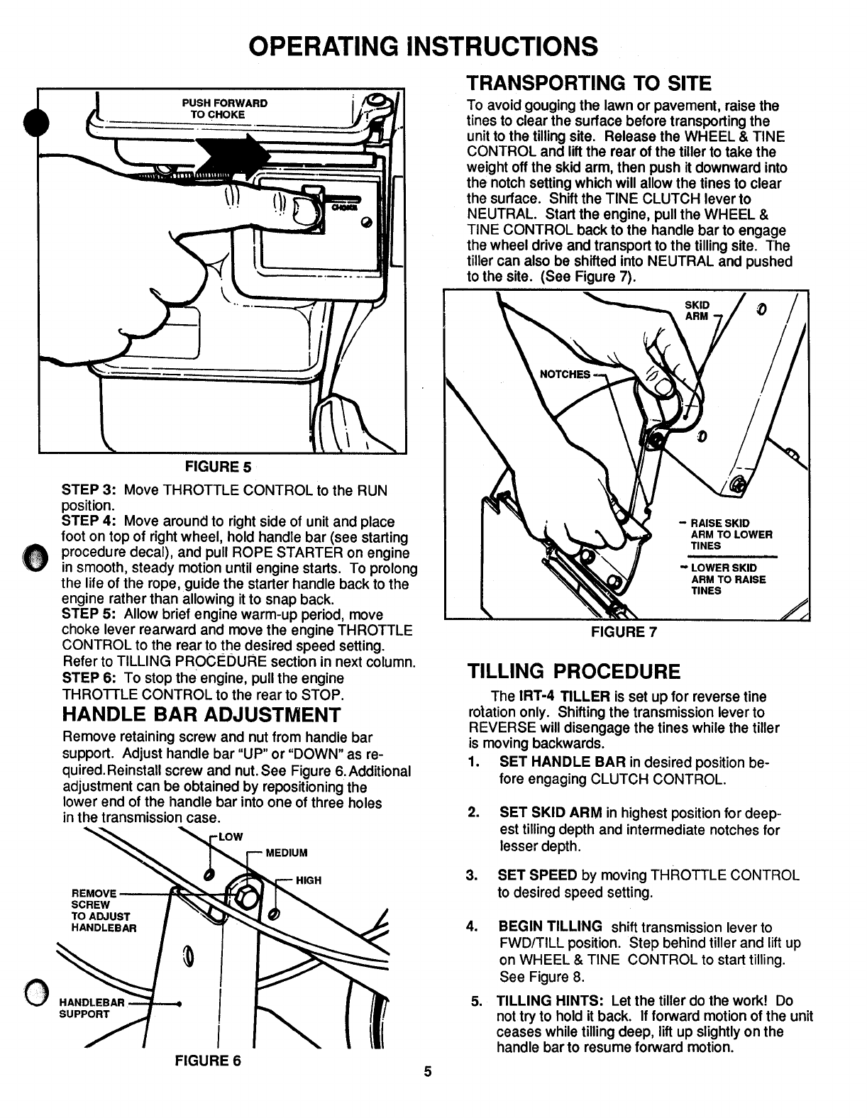 Page 5 of Snapper Tiller IRT4 Series 1 User Guide