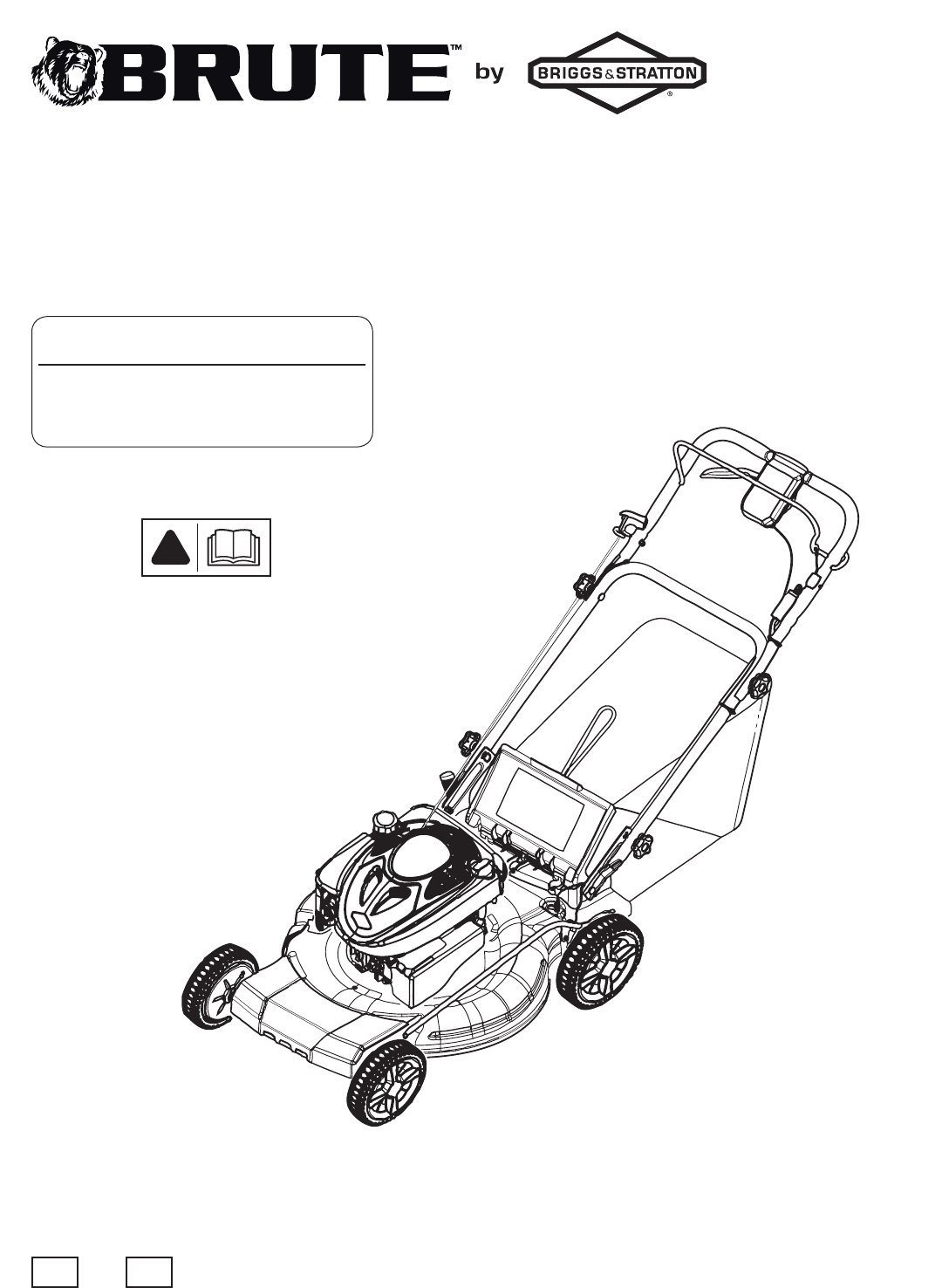 Briggs & Stratton Lawn Mower BTXPV22725 User Guide