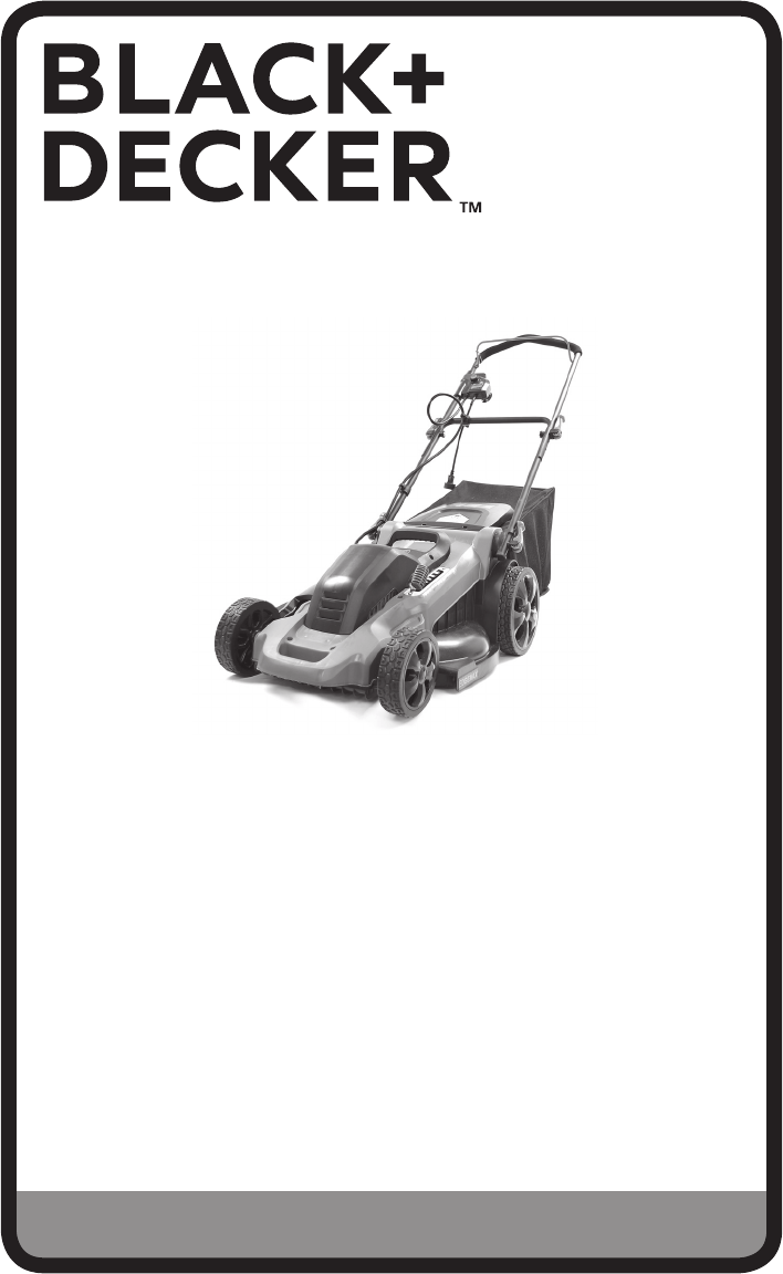 Black & Decker Lawn Mower MM2000 User Guide