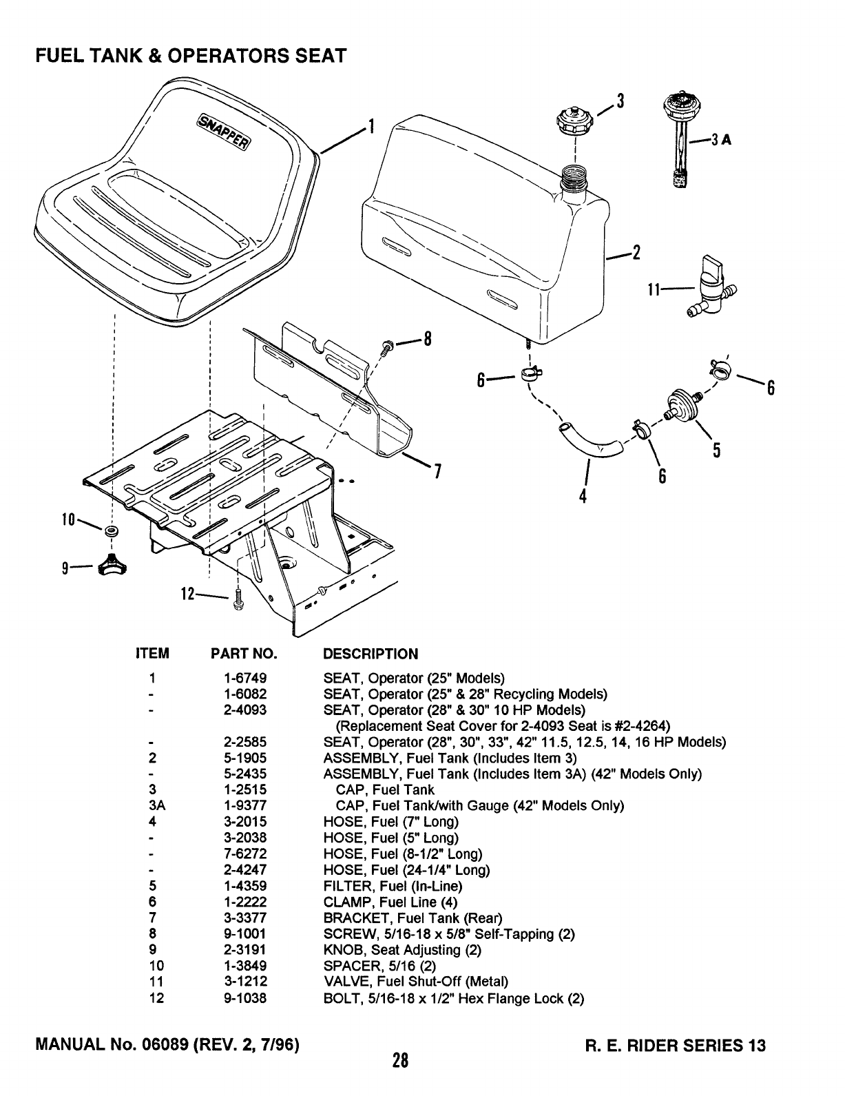 Page 28 of Snapper Lawn Mower 13 User Guide