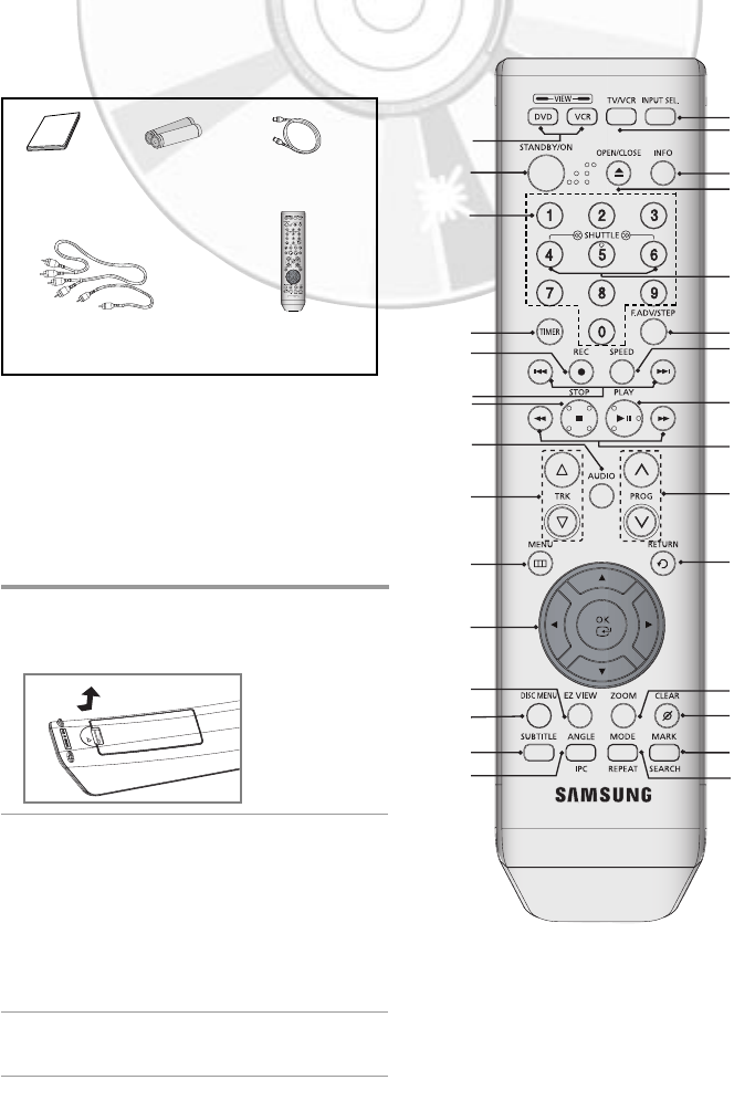 Page 7 of Samsung DVD VCR Combo DVD-V6600 User Guide
