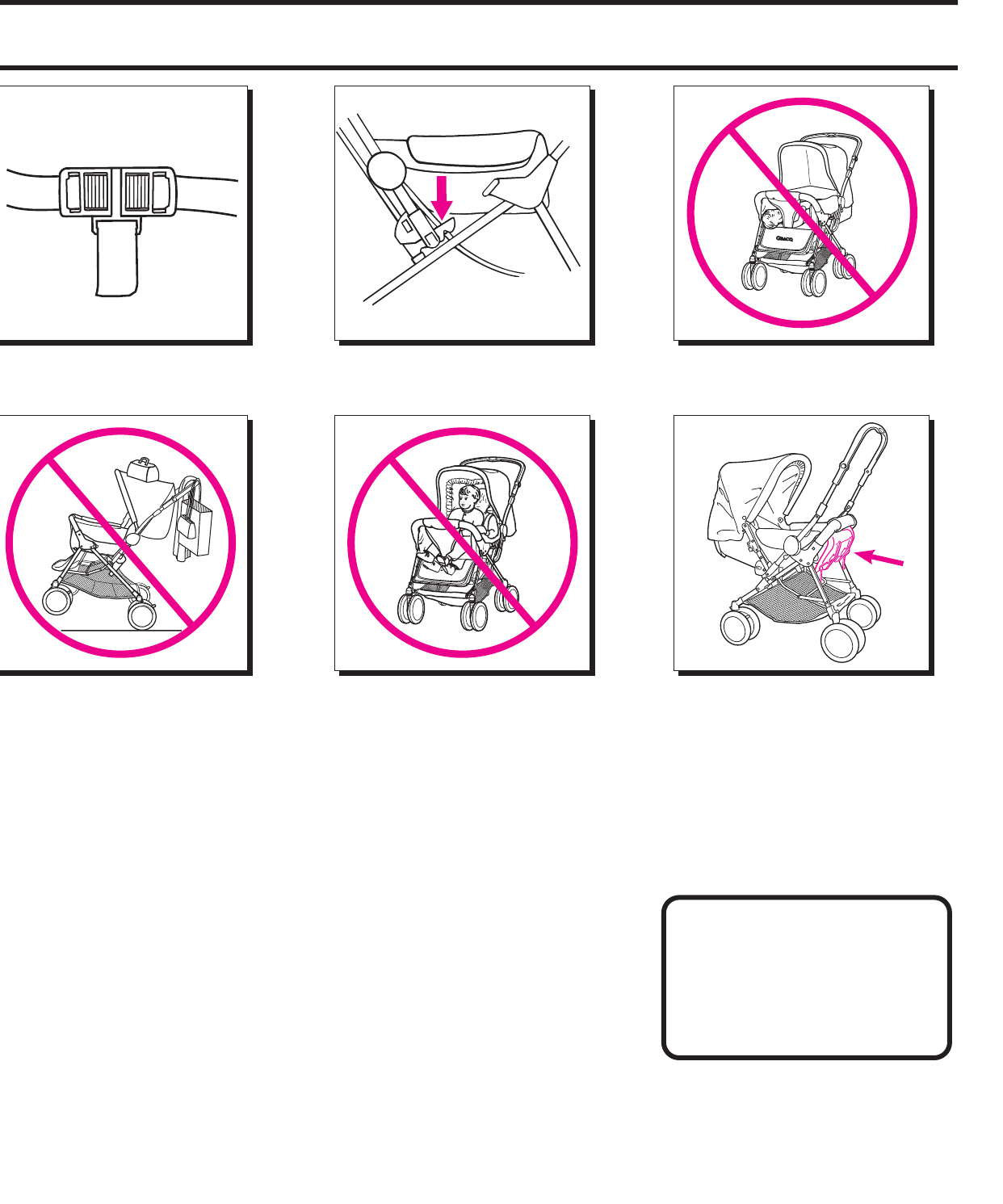 Page 2 of Graco Stroller 7600, 7700 User Guide
