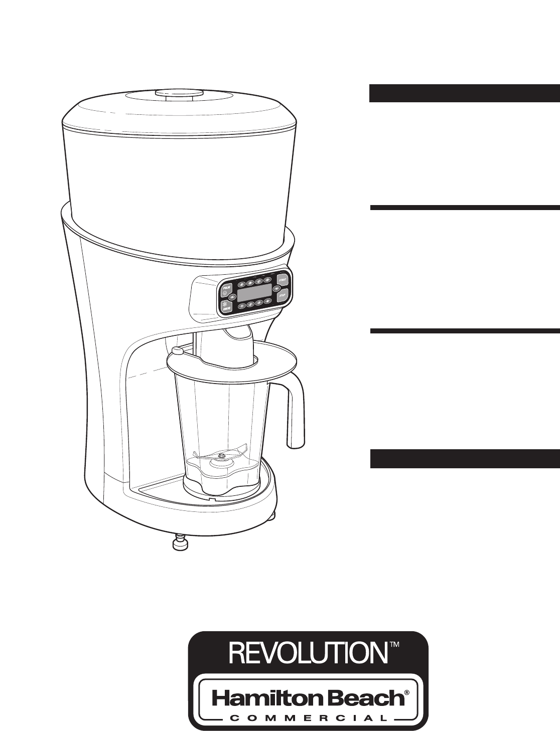 Hamilton Beach Blender Ice Shaver User Guide