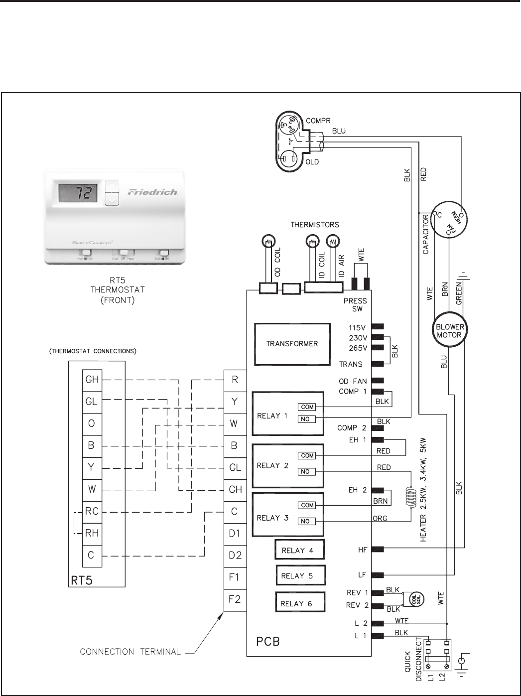 Page 38 of Friedrich Air Conditioner H)A18K34L User Guide