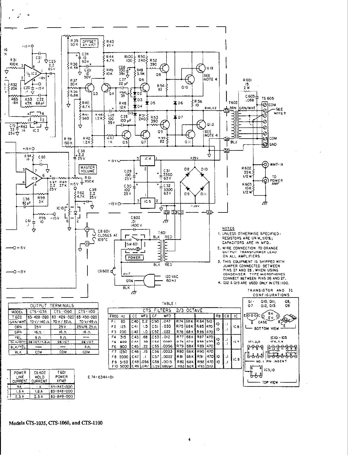 Page 3 of Bogen Stereo Amplifier CTS-1100 User Guide
