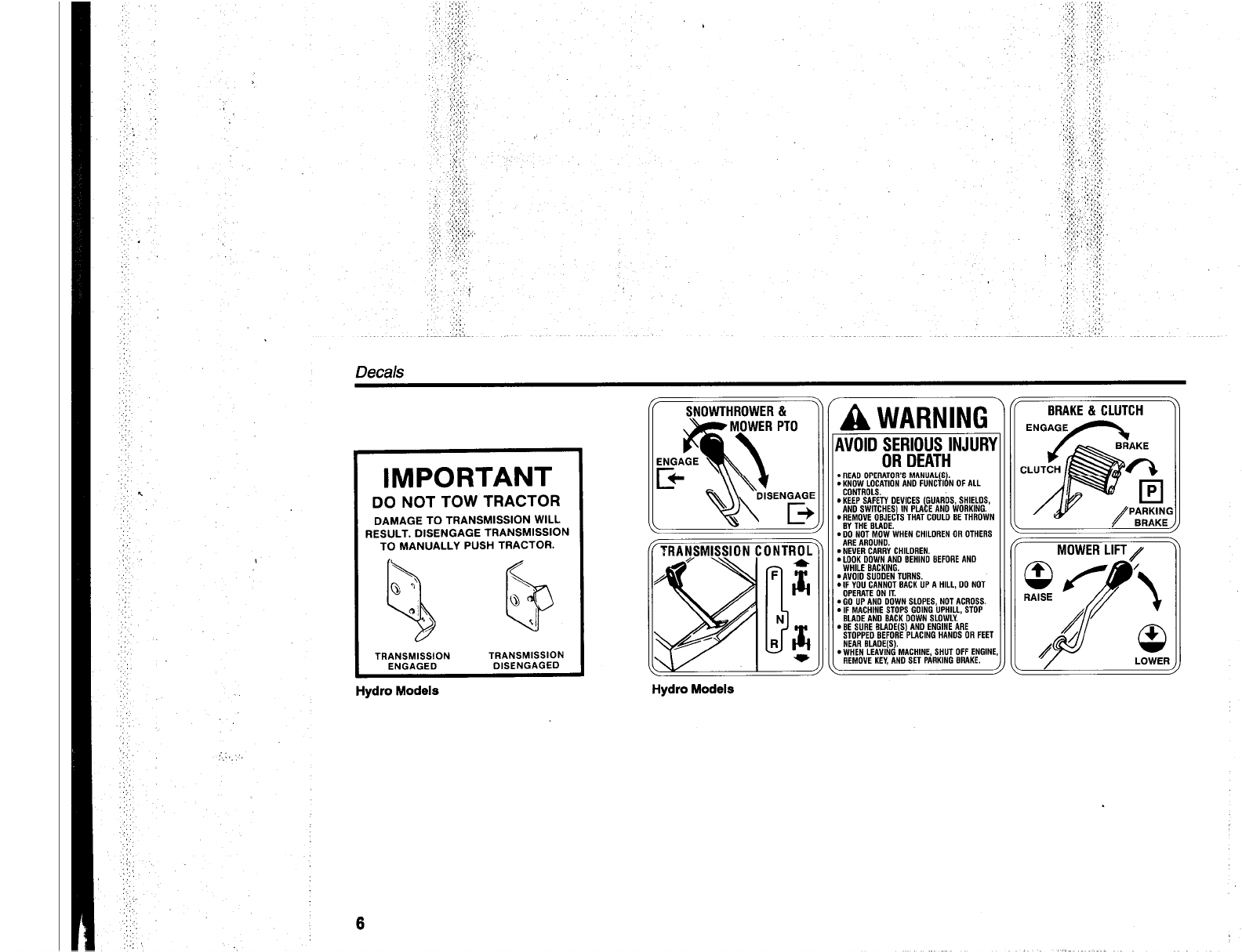 Page 8 of Simplicity Lawn Mower 512 SERIES User Guide