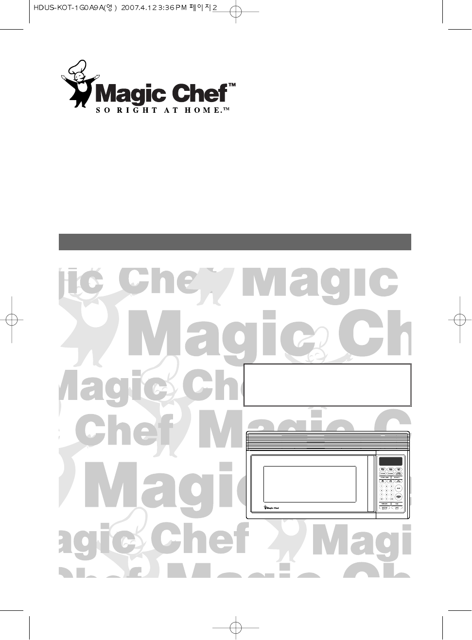 Magic Chef Microwave Oven mco160uw User Guide